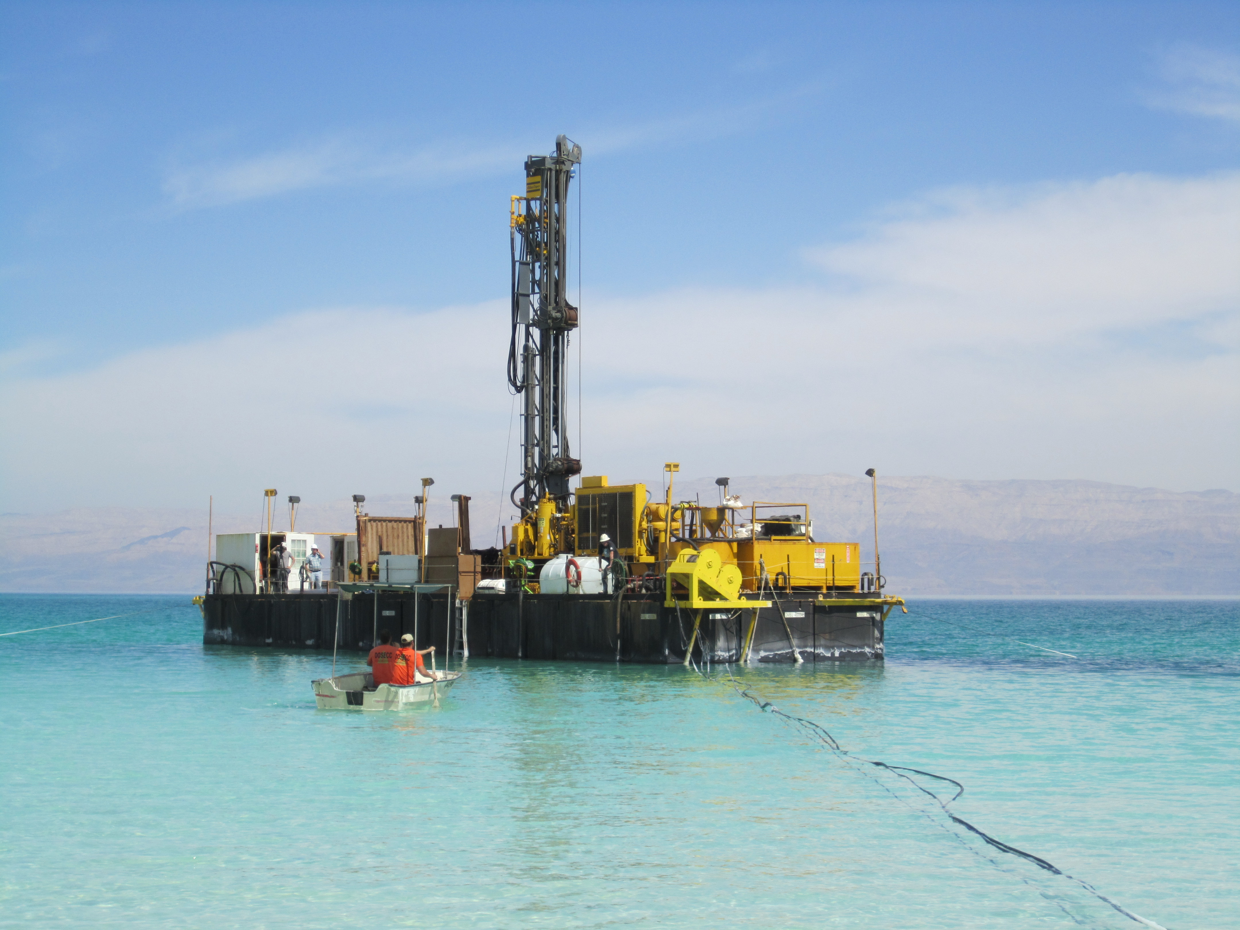 Dead Sea scientific core drilling company project, located in Ein Gedi, Israel